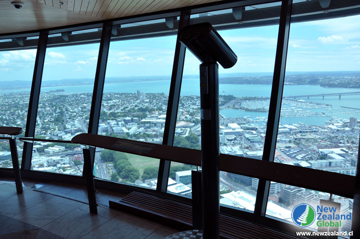View from inside the Auckland Sky Tower