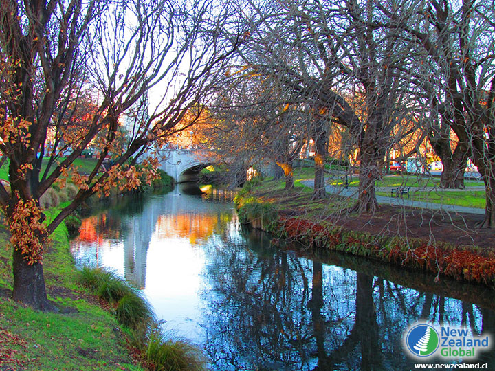 The Avon River in Christchurch, New Zealand