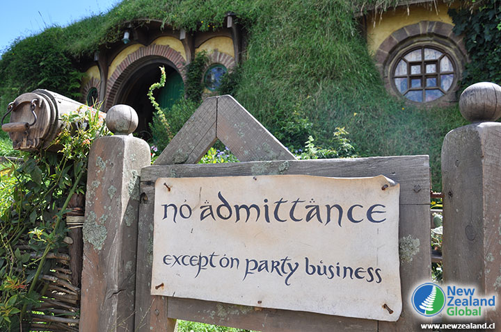 Hobbit Sign - No admittance, except on party business