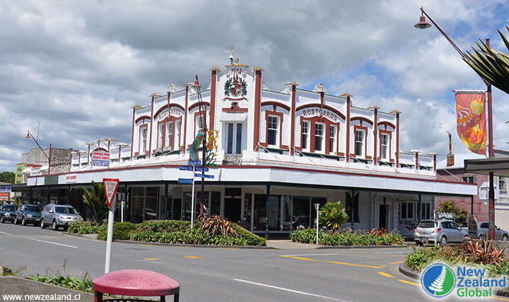 A building from 1914 in Opotiki, New Zealand