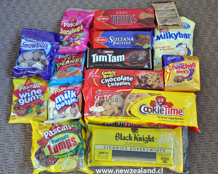 Typical sweets things from New Zealand